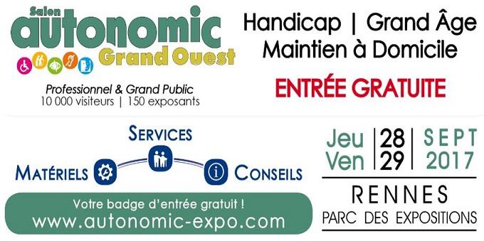 Les Girandières vous donne rendez-vous stand D23 au Salon Autonomic Grand Ouest 28 et 29 Septembre